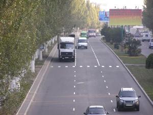На улицах Донецка