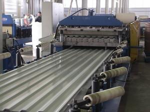 Производство стальных профилированных листов (профнастила)