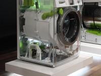 Сложность конструкции стиральной машины на выставочном экземпляре