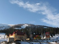 Вид на гору Гимба из села Пилипец