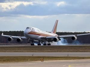 Взлет Боинга-747 в аэропорту Борисполя