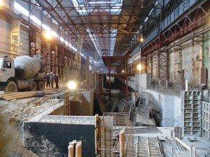 Строительство цеха «Запорожсталь». Фото с официального сайта компании