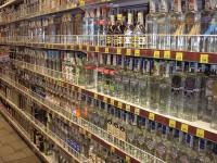 Водка в супермаркете. Фото -  JonnyBrazil at de.wikipedia