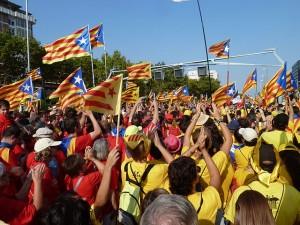 Митинг в Барселоне - столице Каталонии. Фото - Clara Polo Sabat