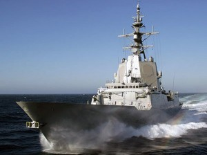Испанский фрегат ALMIRANTE JUAN DE BORBON (F 102)