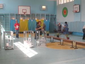 Избирательный участок в Мелитополе. Фото - Максим Стоялов