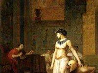 Клеопатра и Цезарь. Картина художника Жана-Леона Жерома (1866 г.). Фрагмент