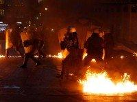 Волнения в Афинах. Фото Twitter
