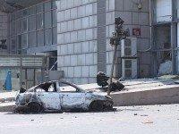 Последствия взрывов в Тяньцзине. Фото Voice of America