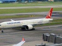 Boeing 777 авиакомпании Turkish Airlines. Фото Mert Borak