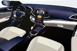 Интерьер Lada Vesta. Фото кадр с www.youtube.com