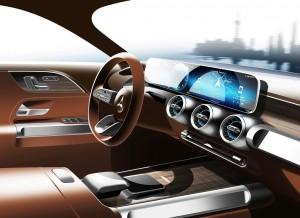 Салон Mercedes-Benz GLB. Фото Mercedes